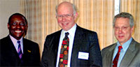 photo, John D.G. Rather receiving WSU Patent Award, 2001